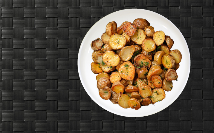 Roasted Potatoes on a Plate
