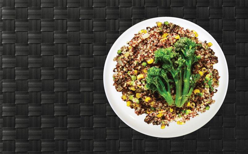 MealPro Quinoa Broccoli and Cauliflower plate delivered