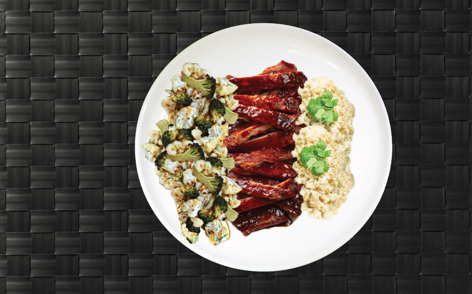 MealPro BBQ meal plated