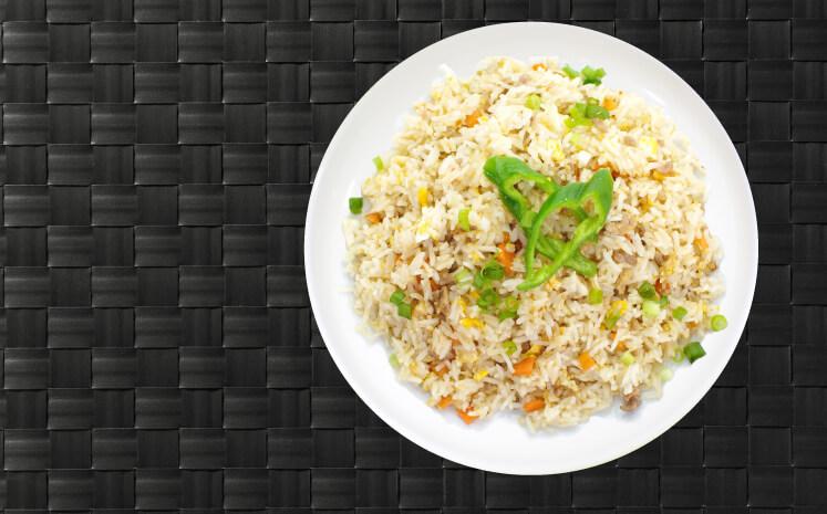 Food Rice On Plate