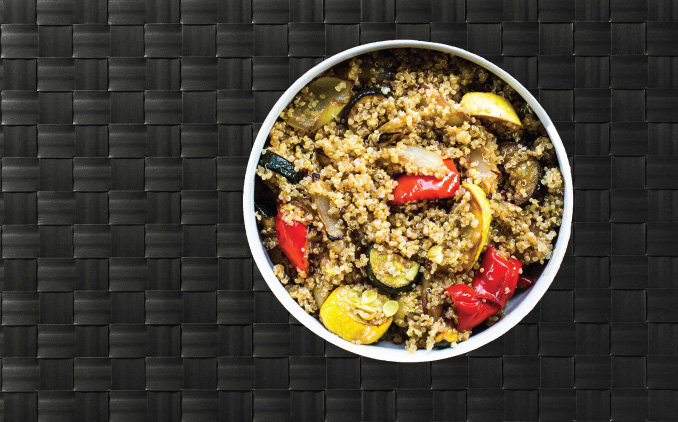 Quinoa Food Plate