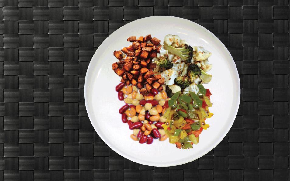 MealPro Veggie plate delivered
