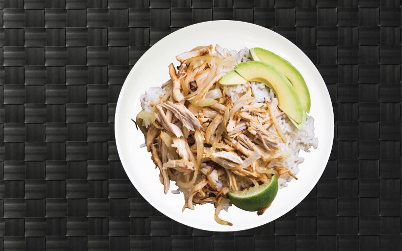 MealPro Sliced Cuban Chicken on a White Plate