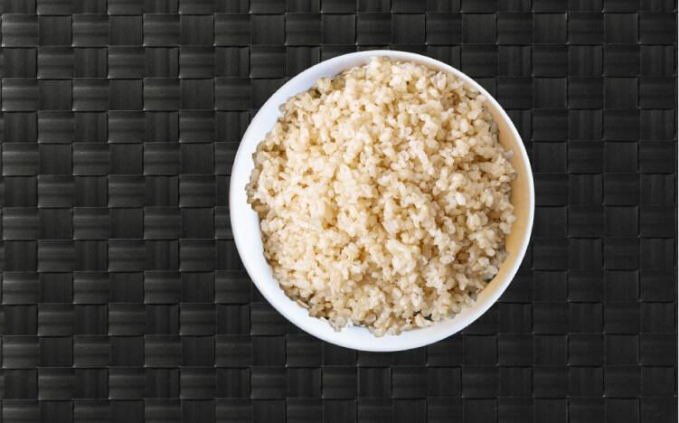 Bowl of brown rice start